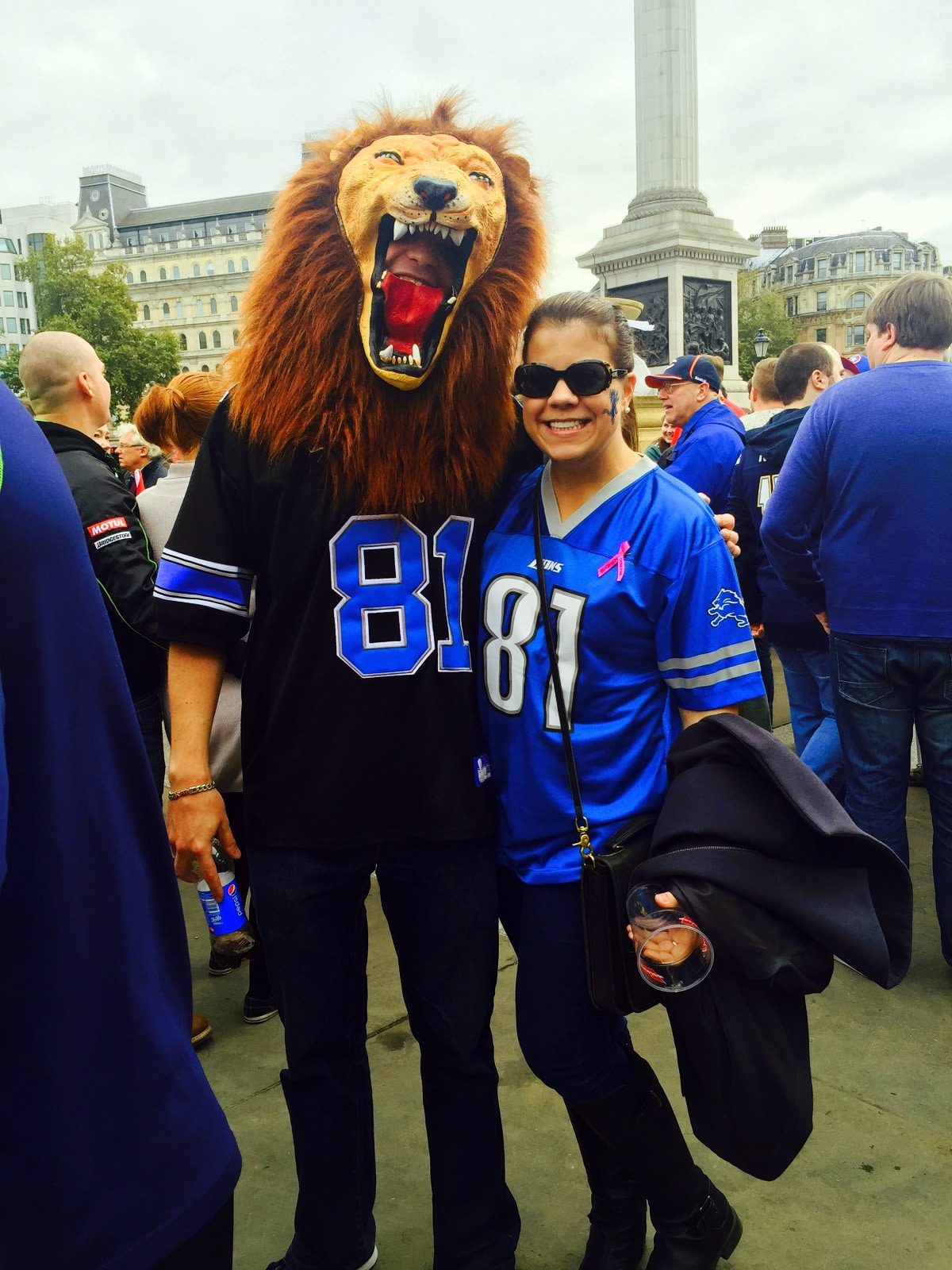 Lions in London via Wayfaring With Wagner