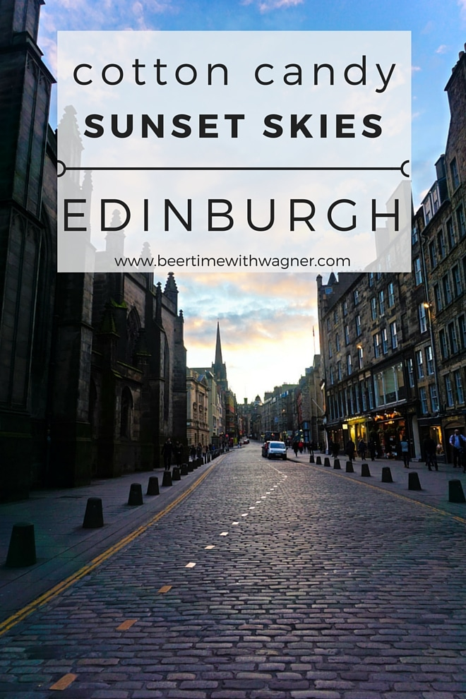 Edinburgh at sunset via Wayfaring With Wagner