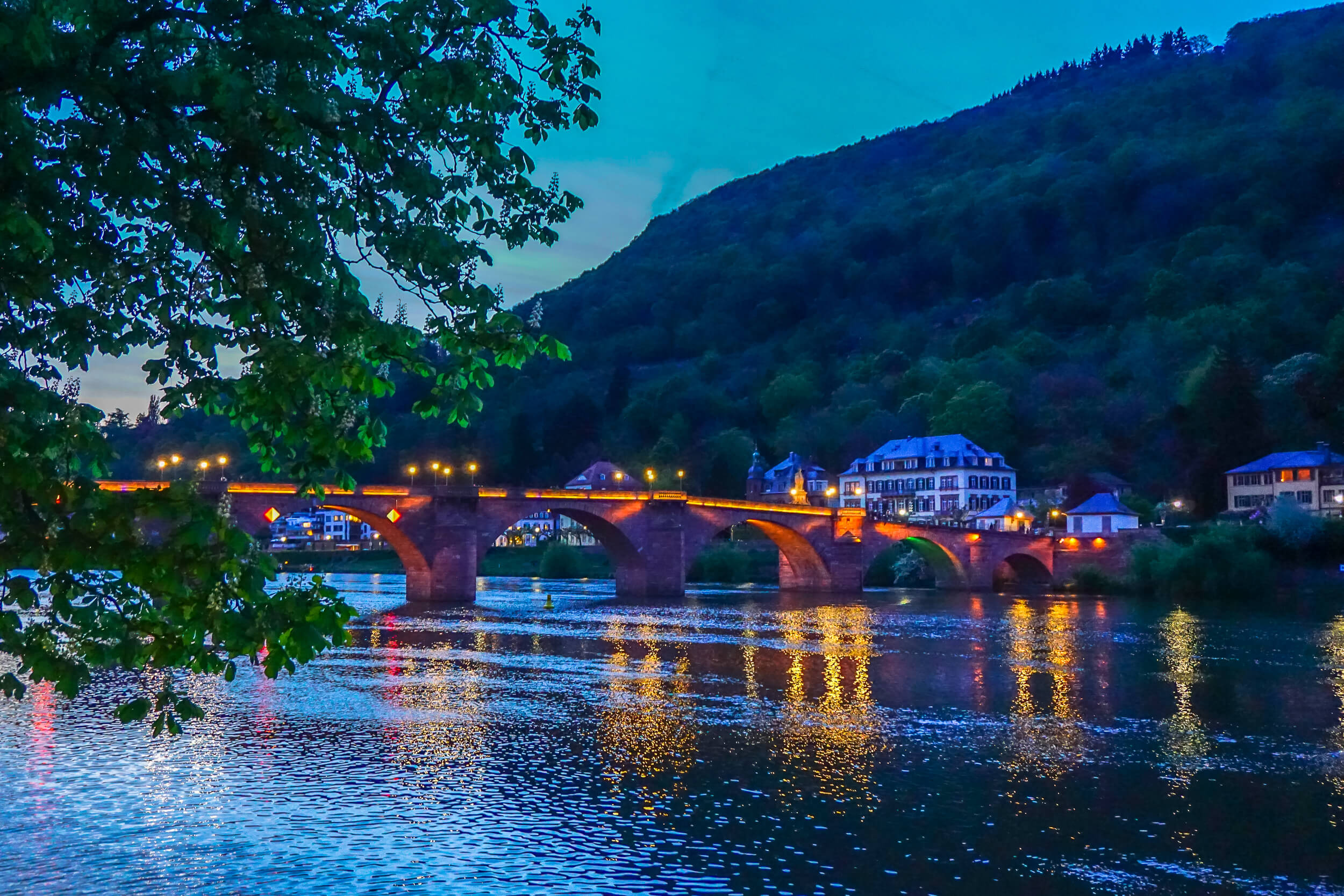 Heidelberg at Night via Wayfaring With Wagner