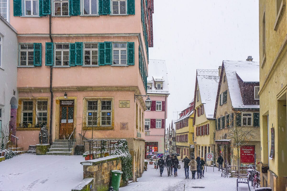 Tübingen in wintertime via Wayfaring With Wagner