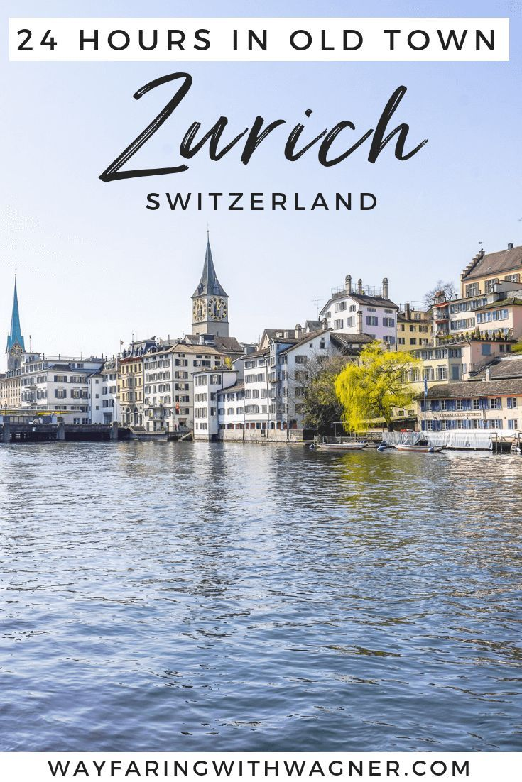 Here's a guide on how to spend one day in Zurich, Switerland old town including what to do in Zurich, Switzerland and 24 hours in Zurich, Switzerland.